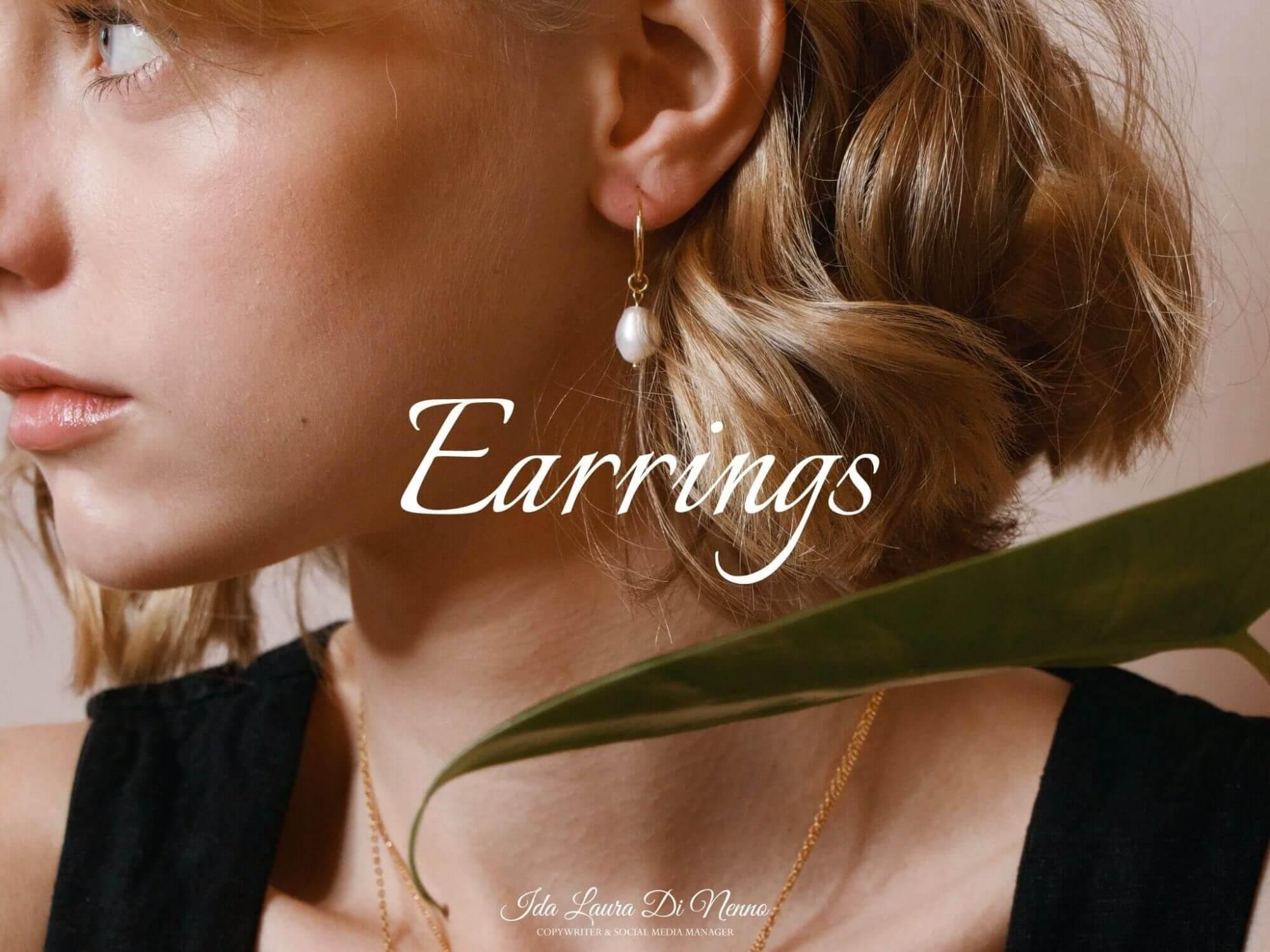 Earrings: luminosa eleganza